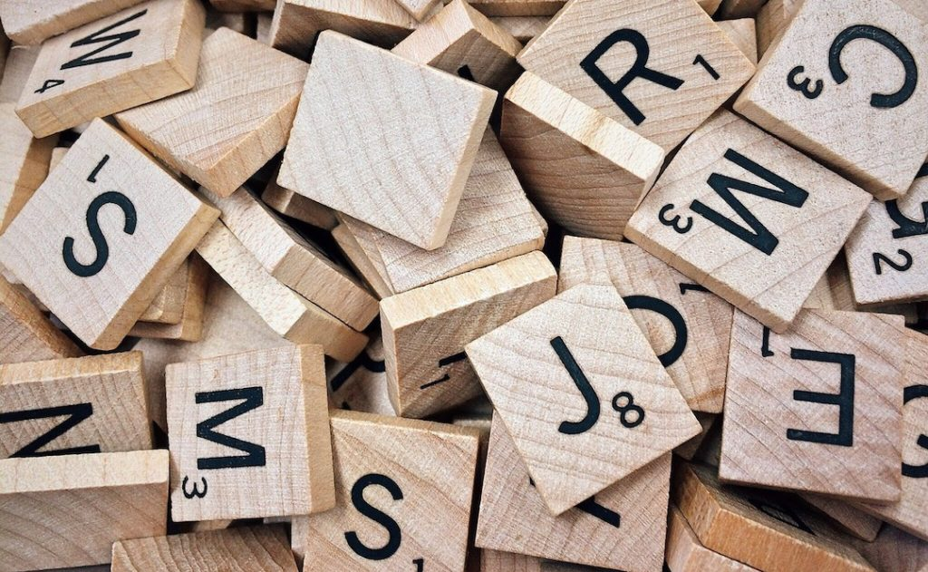 Image of scrabble pieces