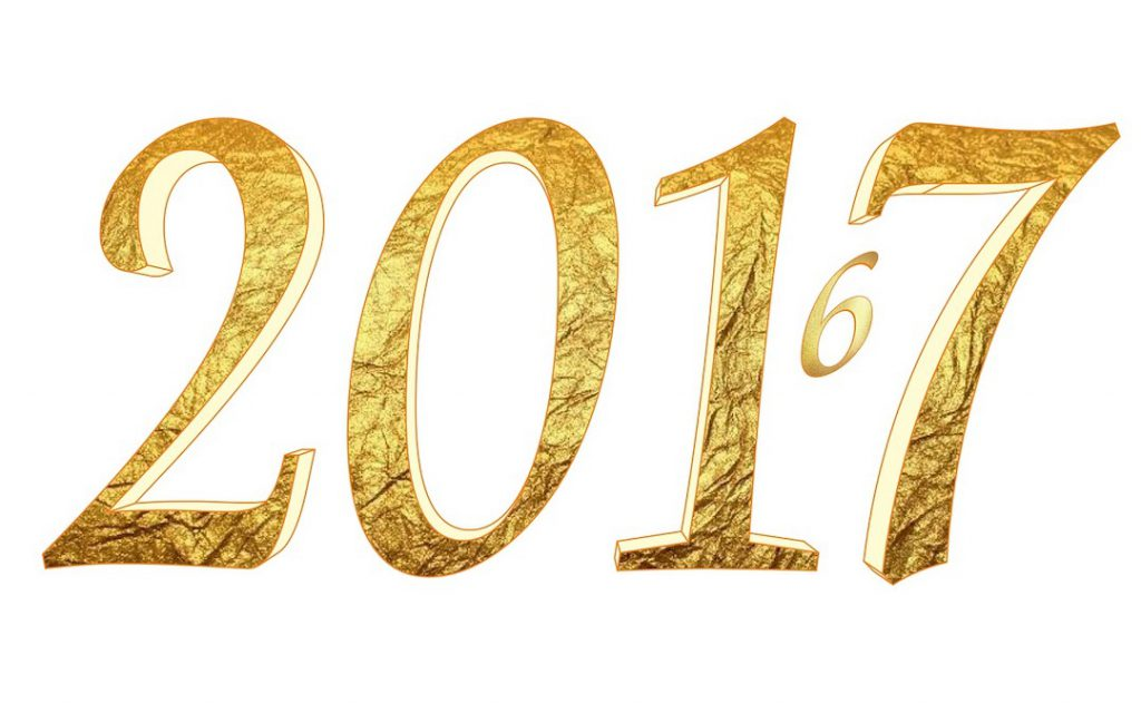 Image of gold 2017 with small number 6