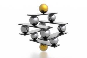 Image of balls balancing
